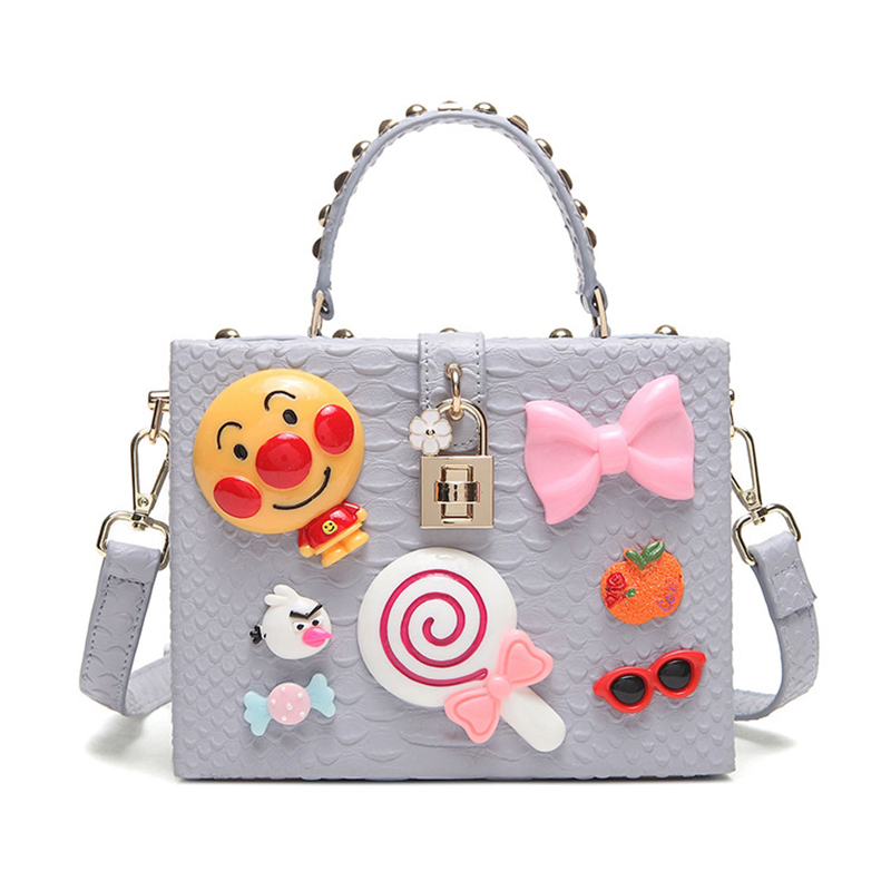 Girls Shoulder Bag Handbag Messenger Box Bag Design Cute ...