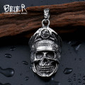 Beier 316L Stainless Steel necklace pendant  Cool Officer Dictator New Designed skull pendant  Fashion Jewelry BP8-206