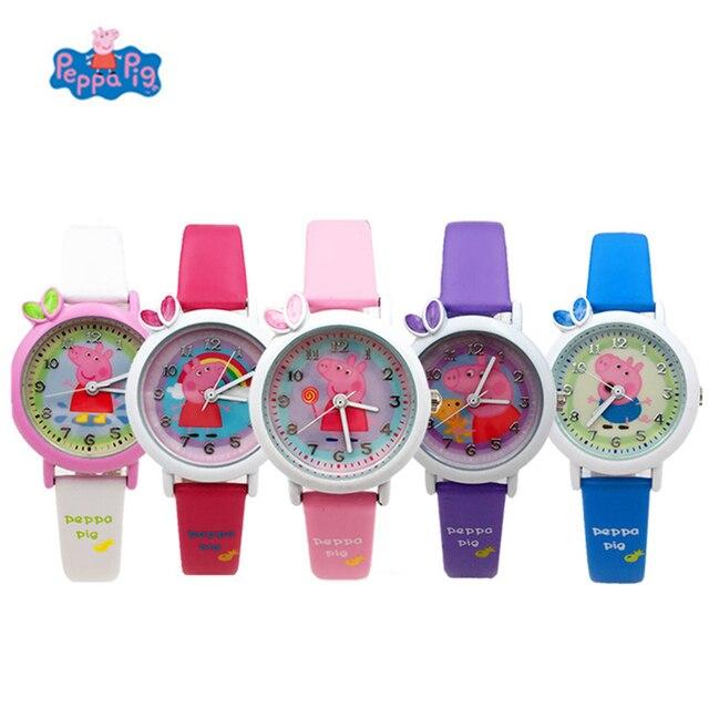 Peppa Pig Relógio Digital Tempo de Desenvolver O Olhar Tempo Inteligência Aprender George dial Ação Anime Figura de Brinquedo de Presente de Aniversário Das Crianças