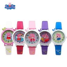 Peppa Pig reloj Digital tiempo desarrollar apariencia tiempo inteligencia aprender George dial acción Anime figura juguete de regalo de cumpleaños para niños