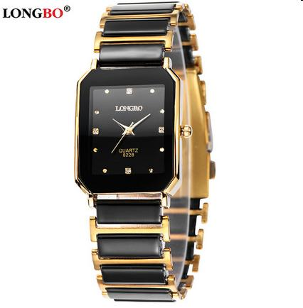 2016 Hot Selling Male Business Fashion & Casual Dress Watch Quartz Watch Black Mens Ceramic Luxury Watches Gift Waterproof Watch