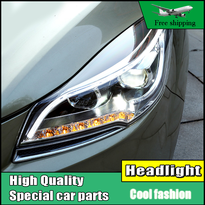 Car Styling Head Lamp Case For Ford Escape Headlights 2013-2015 Kuga LED Headlight DRL Lens Double Beam HID Xenon bi xenon lens car styling head lamp case for skoda superb 2009 2013 headlights led headlight drl lens double beam bi xenon hid accessories