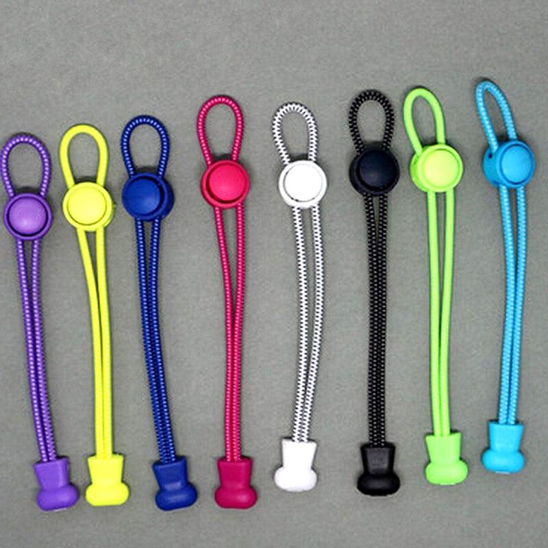 Neue 1 Para 1 mt Runde Farbige Schnürsenkel für Kinder Mode Elastische Gummi Einstellbare Schnürsenkel Mode Faul Schnürsenkel Saiten