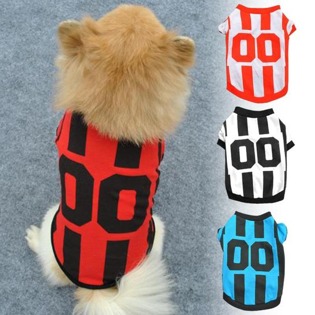 2017 Spring Summer Pet Clothing Dog Polo Shirt Clothes Classic Jersey Sporty Wind Style Global Best-selling Vest