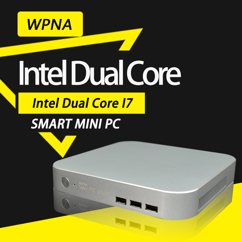 WPNA Micro Nettop T5 Intel CPU Core i7 WIFI mini pc windows Computer Office All In