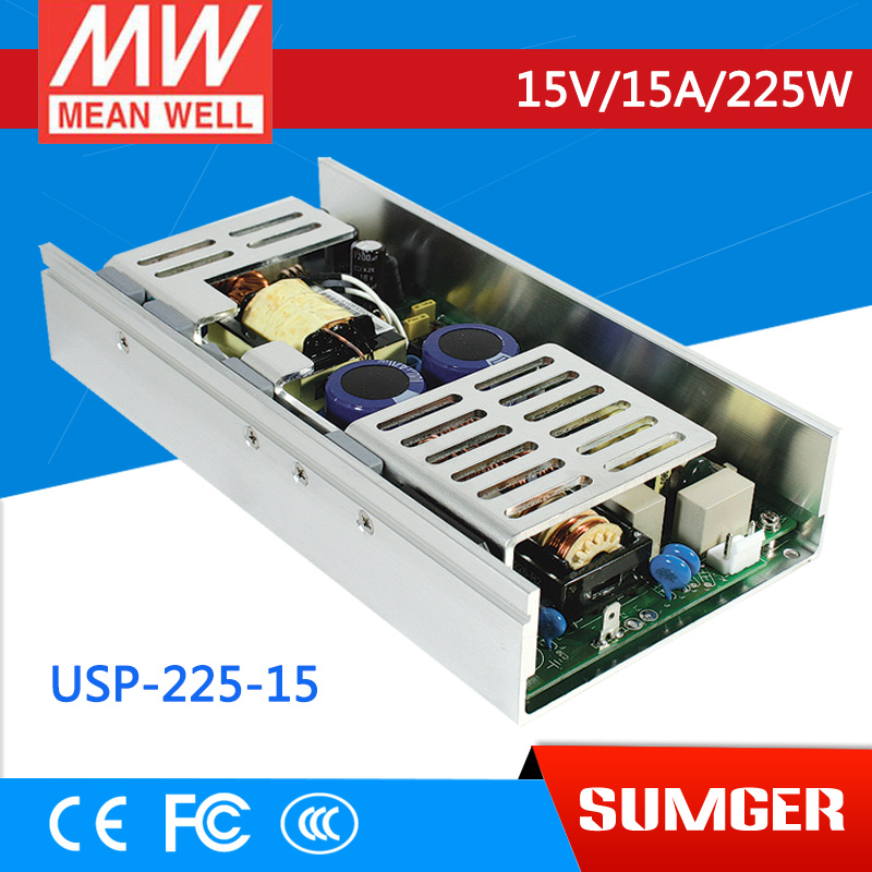 1MEAN WELL original USP-225-15 15V 15A meanwell USP-225 15V 225W Single Output with PFC Function Power Supply [mean well1] original epp 150 15 15v 6 7a meanwell epp 150 15v 100 5w single output with pfc function