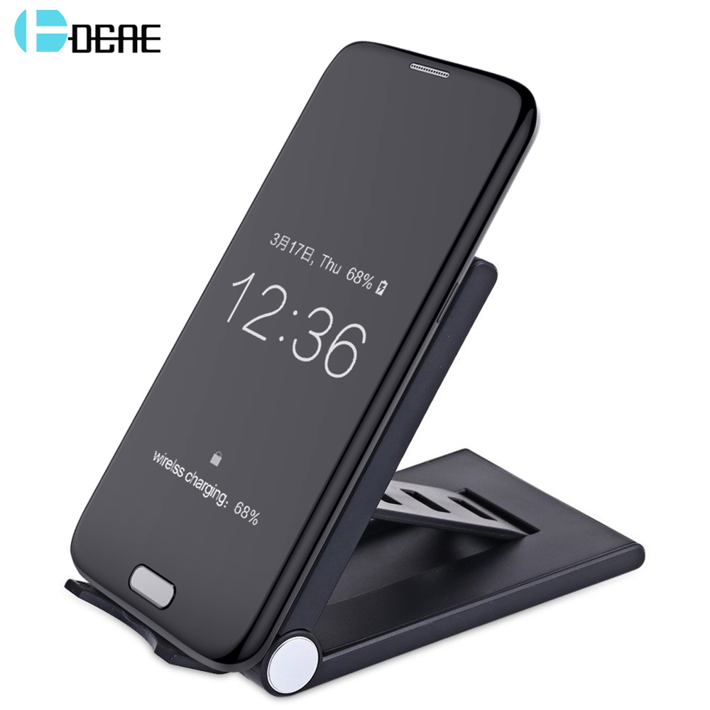 DCAE Qi Wireless Charger For Samsung Galaxy S9 S8 Plus S7 S6 Note 8 For iPhone X 8 8 Plus Xiaomi Mix 2s Fast USB Charging Dock