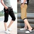 Mens Causal Calções Calções de Verão Dos Homens Shorts Dos Homens Branco Preto cor