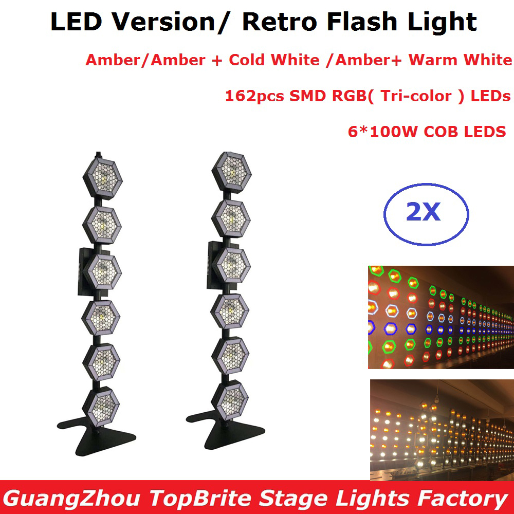 2XLot LED Retro Flash Light Amber 6X100W LED Stage Light DMX 512 Pixel Lights For Party Wedding Disco Shows LED Flash Light2XLot LED Retro Flash Light Amber 6X100W LED Stage Light DMX 512 Pixel Lights For Party Wedding Disco Shows LED Flash Light