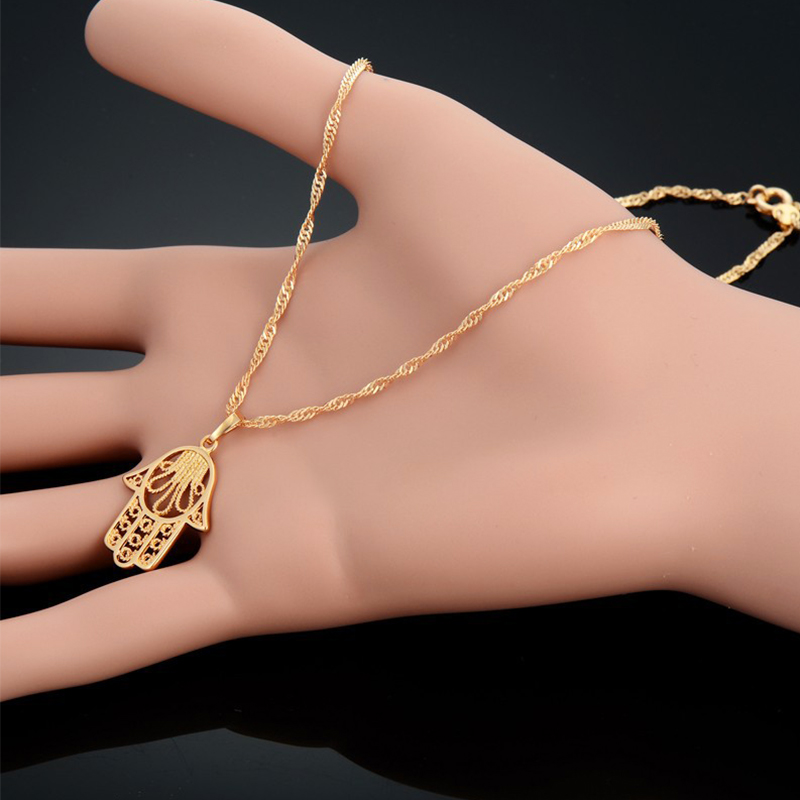 Hamsa Hand Necklace For Women Collares Classic Arabic Necklace - Fashion Jewelry - Photo 4