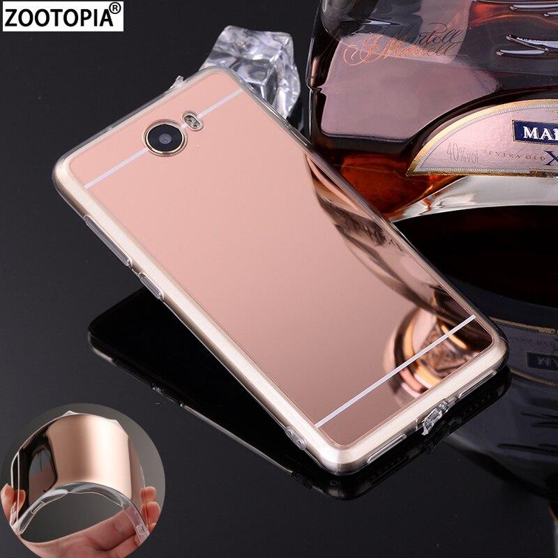 Mirror Plating TPU Soft Silicone Case Cover For Huawei Y5 II 2 Y3II Y6II Compact Honor 5A LYO-L21 Y5 Ii Y6 Ii Coque Fundas Capa
