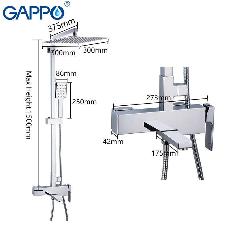GAPPO ชุดฝักบัวอาบน้ำรุ่น Rain Shower ระบบอ่างอาบน้ำก๊อกน้ำ Shower TAP Bath น้ำตก Shower HEAD Mixer torneira