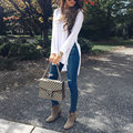 Women Fashion Loose Charming Girls Tee Solid Split Loose Irregular Casual Top T-Shirt White S/M/L/XL