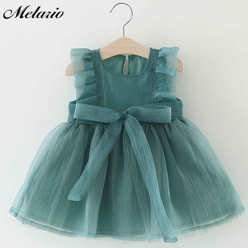 Melario Girls Dress 2018 Winter girls dress for kids clothes fashion Bowknot Dot Mesh Design dresses princess children summer girls dress summer 2017 denim dresses for girls infant strap children clothing princess sundress fashion design kids clothes