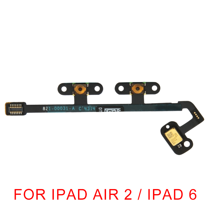 Audio & Video Replacement Parts Ribbon Flex Cable Mute Volume Button Key Control Microphone Mic Replacement For Apple Ipad 6 Air 2 Dropshipping Flex Cables
