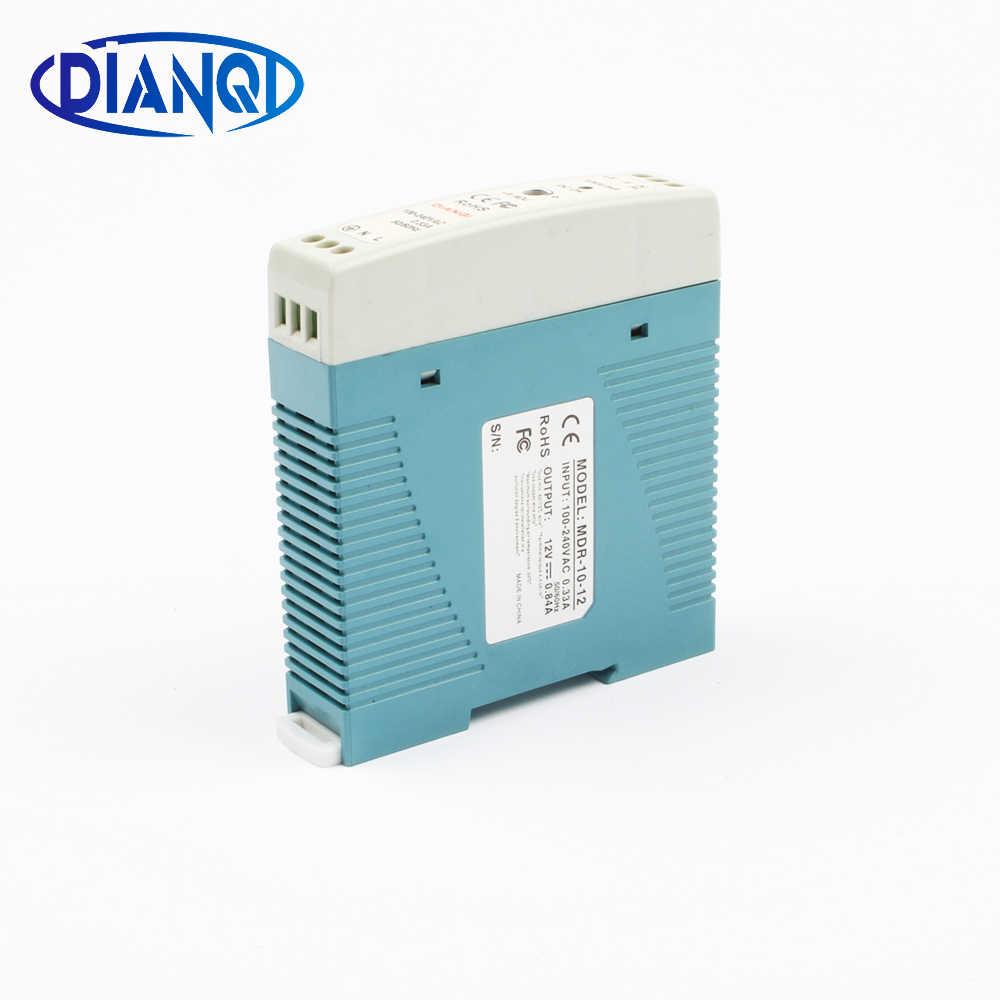 Импульсный источник питания MDR-10 12V 0.8A 10W din-рейка источник питания ac-dc Драйвер AC/DC широкий постоянный напряжение светодиодный полосы 110V 220V