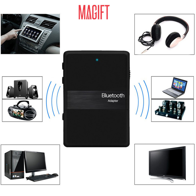 50pcslot DHL 2in1 Wireless Bluetooth Transmitter Receiver Audio APTX 3.5mm Aux Dongle Adapter for iPod PC Laptop TV Speaker MP3