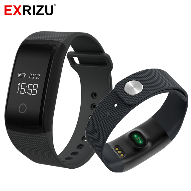 Exrizu Smart Wristband Pedometer Steps Fitness Bracelet Heart Rate Monitor Blood Pressure Meter Activity Tracker A09