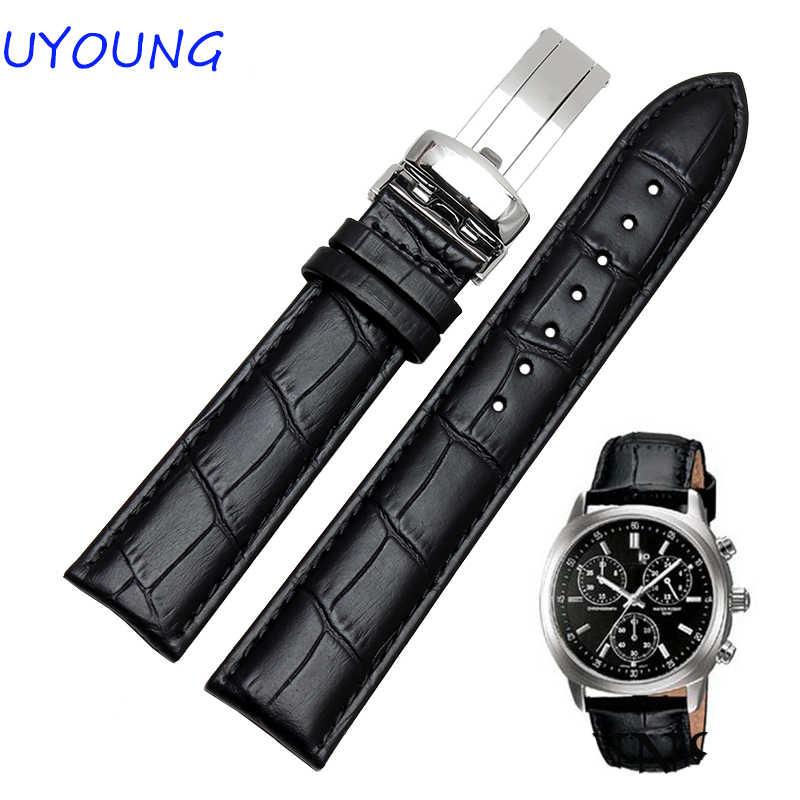 18mm 20mm 22mm 24mm kwaliteit lederen herenhorloge bands zwart bruin horloge mannen vrouwen accessoires voor casio strap