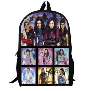 16d41178eb4 13inch Backpack for Boys and Girls Kids Cartoon women Mal Carlos Evie Jay  PR-K