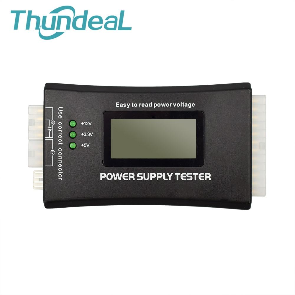 Digital LCD Display Power Bank Supply Tester Computer 20 24 PIN Power Supply Measuring font b