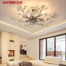 цена на Modern LED Crystal Ceiling Lights Art Indoor Lighting For Kitchen Bar Living room Dinning room Lights Nordic Ceiling Lamps
