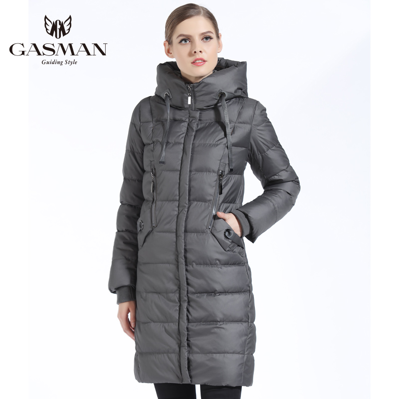 GASMAN New Winter Collection 2018 Down Jackets And Coats Long Slim For Women Casual Overcoats Women 39 s Parka Clothes Winter in Parkas from Women 39 s Clothing