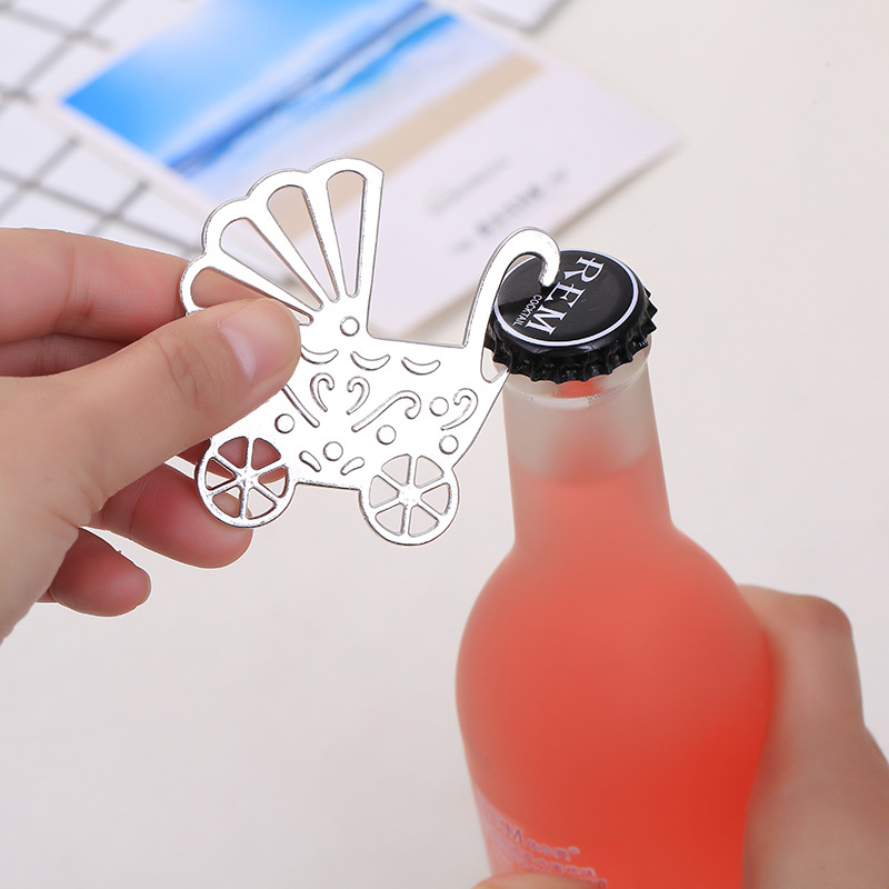 New Baby Carriage Wine Bottle Opener Wedding Party Bridal Baby Shower Favor Guest Gift Present