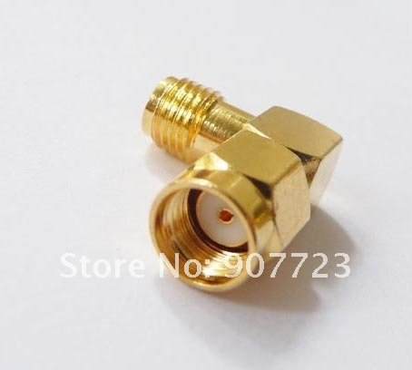 10pcs RP-SMA Male To RP-SMA Female Right Angle RF SMA Connector Adapter [lan] gore okr01r71024 0 sma sma rf test line revolution angle 18ghz 60cm
