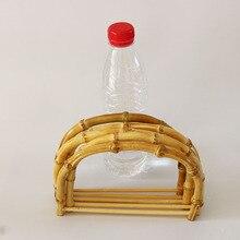 10 pcs Per Lot Size 18.5X12.5 CM Nature Color Bamboo Bag Handle DIY Handbag Accessories Wooden Cane Purse Frame China Online