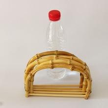 10 stücke Pro Los Größe 18,5X12,5 CM Natur Farbe Bambus tasche Griff DIY Handtasche Zubehör Holz Cane Geldbörse Rahmen China Online