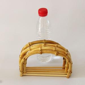 Image 1 - 10 sztuk za dużo rozmiar 18.5X12.5 CM natura kolor bambusowa torba uchwyt DIY akcesoria torebkowe drewniane trzciny torebka rama chiny Online