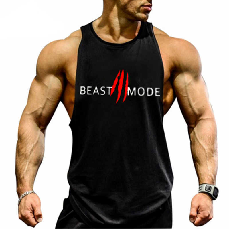 0ea49d690f93e8 Detail Feedback Questions about Gyms Bodybuilding Tank Top Men Summer Sexy  Muscle Workout Print Vest Mens Fitness Sportswear Undershirt Crossfit  clothing on ...