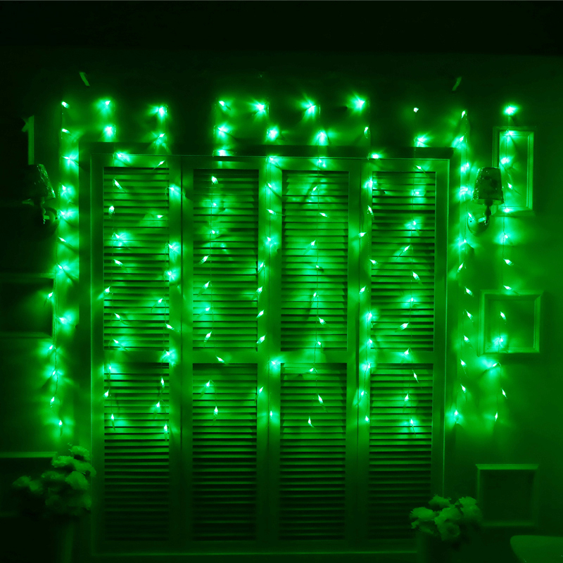 JULELYS Willow Garland Okno LED zavese Lights Holiday Dekorativni LED - Praznična razsvetljava