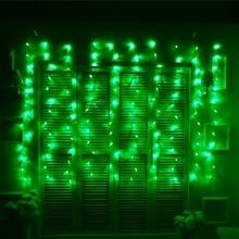JULELYS ערבה גרלנד חלון LED וילון אורות חג דקורטיביים LED חג המולד אורות בחוץ קישוט עבור גינה בחצר האחורית