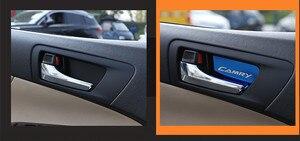 Image 5 - Auto maniglia interna della porta ornamento per toyota camry 2012 2016 corolla 2014 2018 adesivo in acciaio inox accessori auto styling