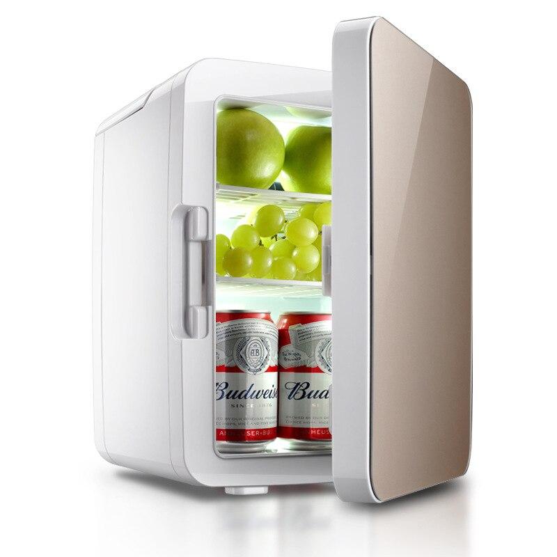 10L Mini Car Home Dual Use Refrigerator Constant Temperature Electric Fridge Portable Refrigerating Device Travel Useful Helper