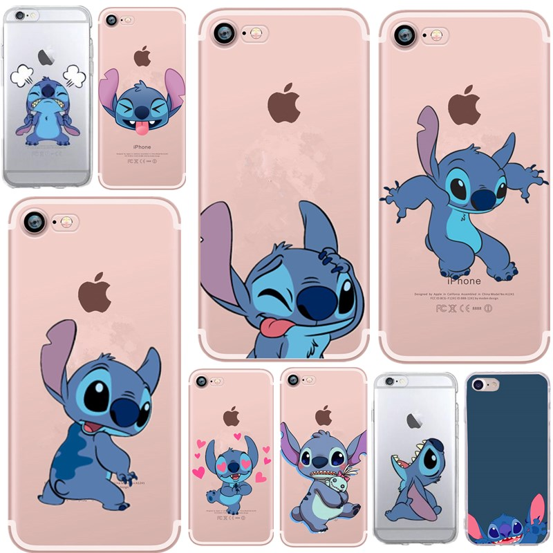 Stitch Case For IPhone 6S Case Silicone For Funda IPhone 7 Soft