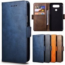 Top Leather Case For LG Q8 / Q 8 / H970 H 970 5.2 inch Cellphone Flip Cover Case