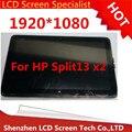 Envío libre 13.3 ''de pantalla táctil lcd Para HP Split13 x2 Touch panel Digitalizador asamblea LCD LP133WH1 (SP) (B1)