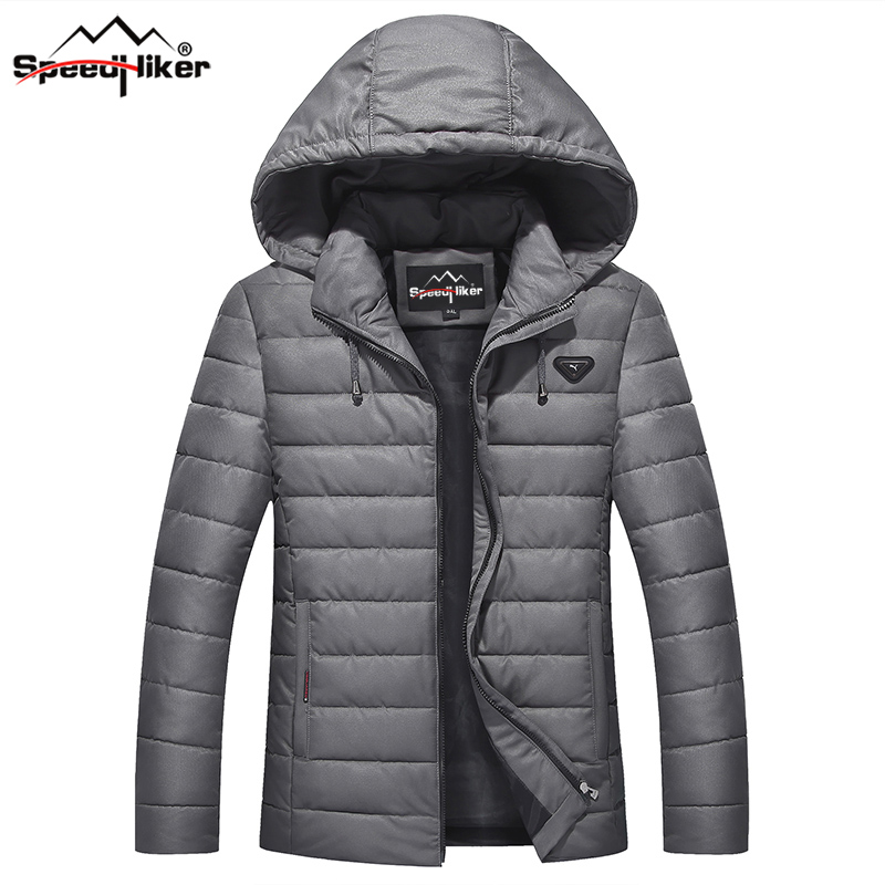 Speed Hiker Winter Jacket coat Men Cotton-padded Hat Detachable Hooded warm causal plus size 4XL-9XL DM05 мужской пуховик al men s padded jacket winter warm hooded jacket