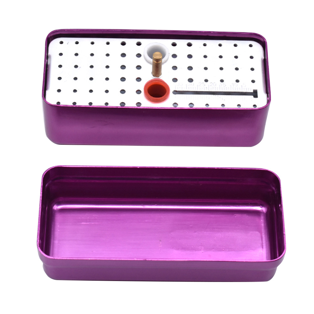 Dental Sterilize Box 68 Holes Endo Endodontic Box Autoclavable Box with Measure Ruler Dental Tools Dentist Sterilization Box