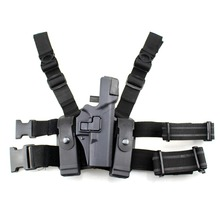 Tactical Glock Leg Holster Right Thigh Paddle Belt Level 3 Lock Duty Pistol Gun Holster Magazine