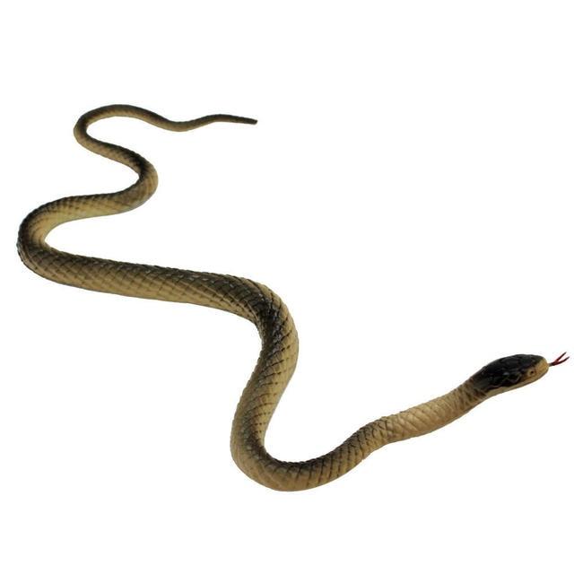 1pcs Non Toxic Soft Artificial Rubber Faux Snake Model Toy