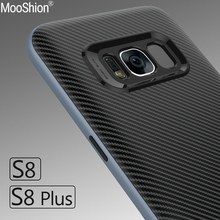Luxury Hybrid case For Samsung Galaxy S8 Hard PC frame+Silicone Dual Layer Protective back cover For Samsung S8 Plus shell