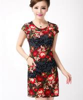 Yeni Moda Bayan İmparatorluğu Vintage Celeb Dantel Kontrast Akşam Düğün Kalem Midi Bodycon Elbise