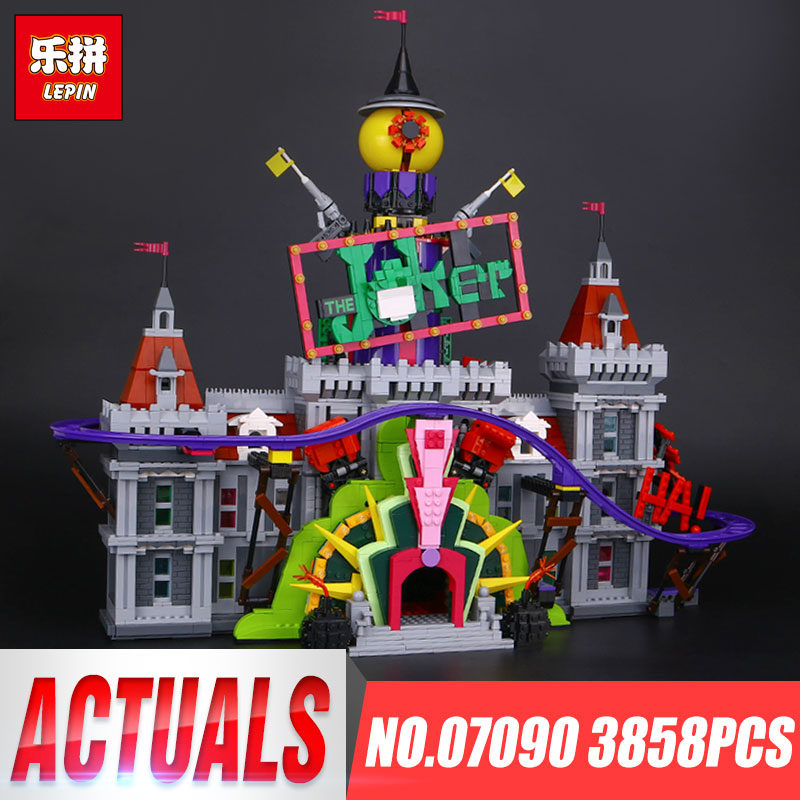 Lepin 07090 Hot-sale 3857Pcs Genuine Super Hero Series The Joker`s Manor Set 70922 Building Blocks Bricks Boy's Christmas Gifts genuine 2 boxes tien nutrient super calcium tien s super calcium