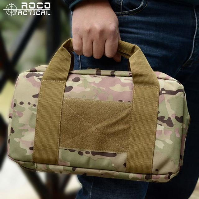 ROCOTACTICAL Tactical Single Pistol Case Military Pistol Hand Gun Bag Gun Rug Outdoor Soft Pistol Carrying Case