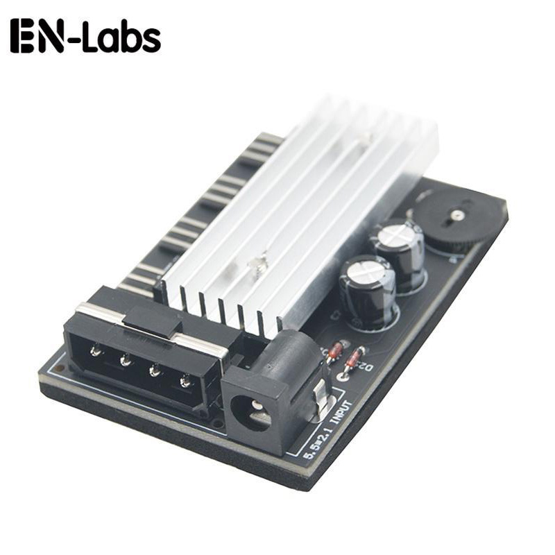 Computer PC Case CPU Cooler 3pin Cooling Fan Speed Temperature Controller, 3 Pin Fan Hub Power Supply Splitter By 4Pin Or SATA