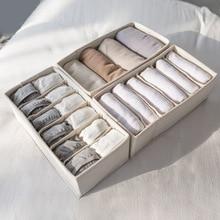 Underwear organizer Home Storage Box Cotton and Linen Foldable Drawer Organizer Towel Hat Socker Storage Organizer